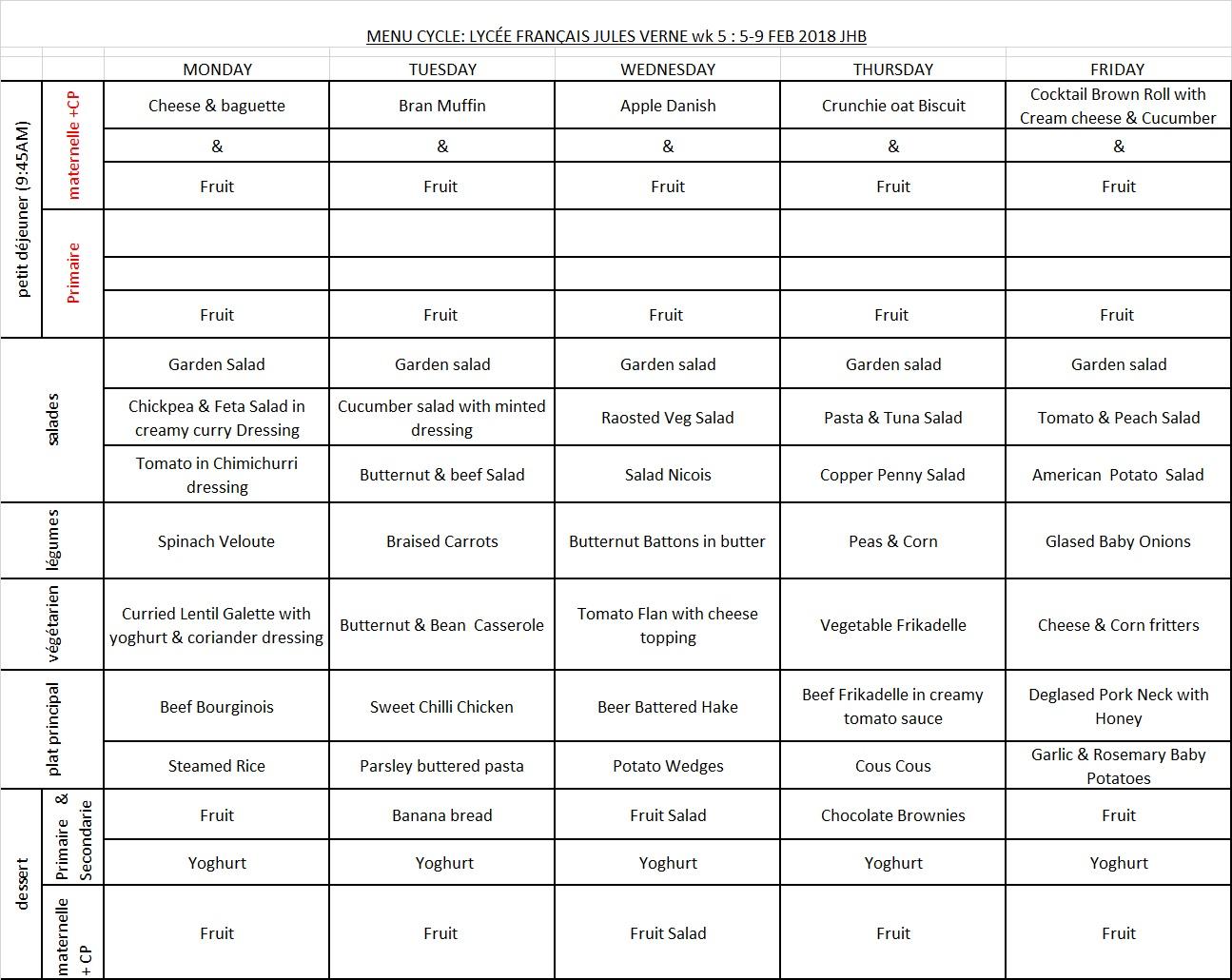 MENU WK5 5-9 FEB 2018