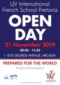 OPEN DAY - Lycée Jules Verne | Pretoria @ Lycée Jules Verne - Pretoria